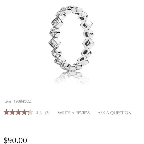 cbe6e9f3c Pandora Jewelry   Alluring Brilliant Princess Stackable Ring   Poshmark